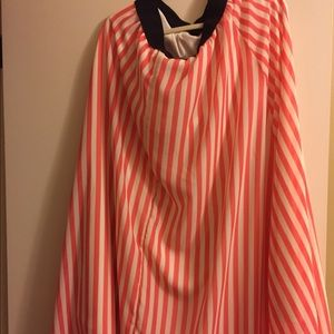 Lularoe pink and cream striped Lucy skirt xl